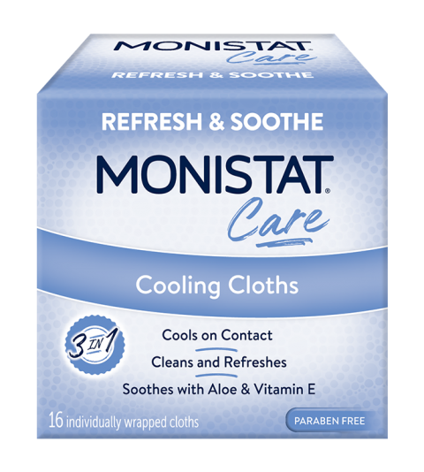 monistat care product cooling cloths